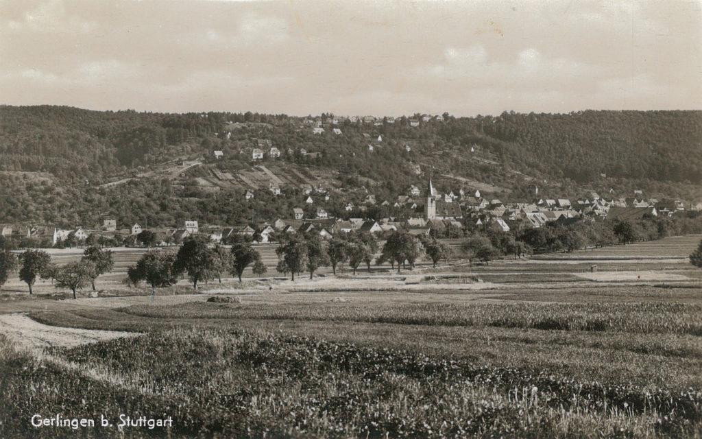 Blick auf Gerlingen von Norden (ca. 1955)