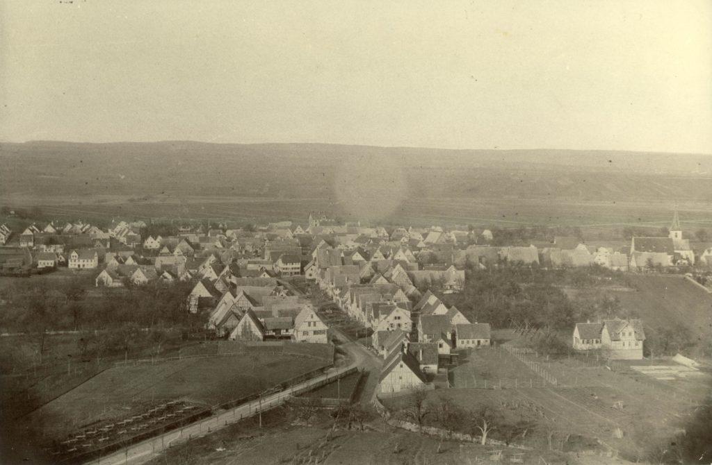 Gesamtaufnahme von Gerlingen nach 1885