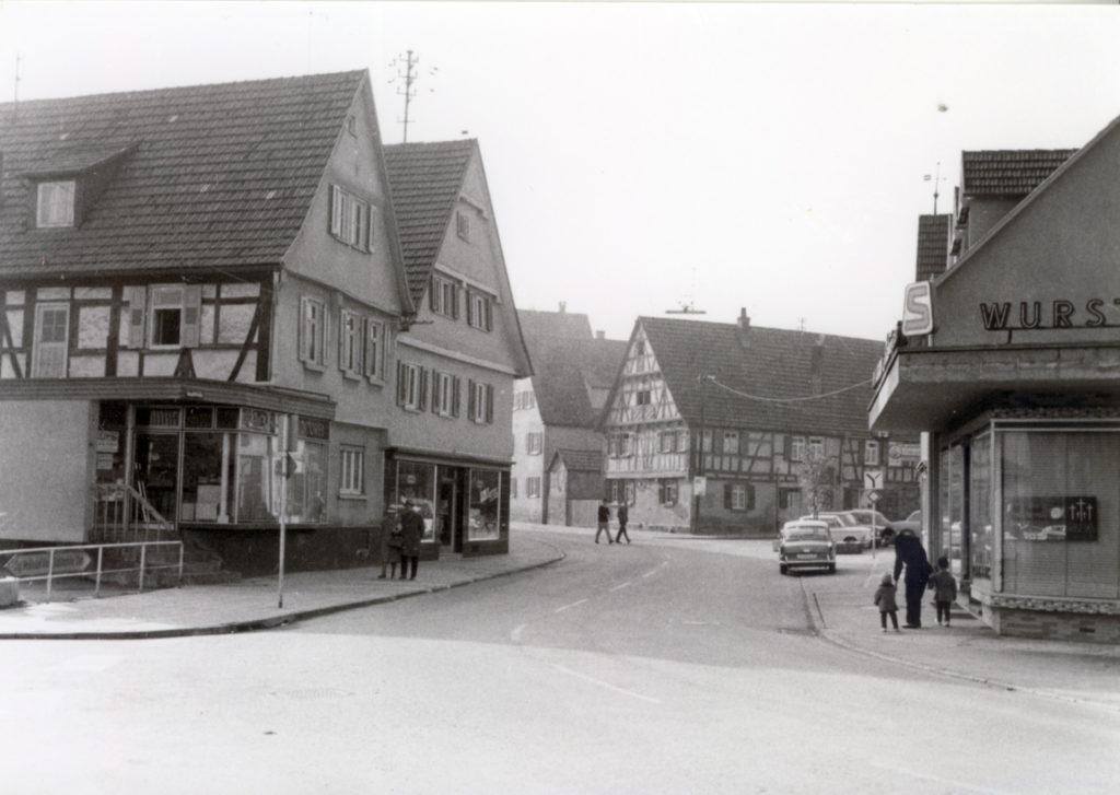 Hauptstraße 14-20 und 9-11 um 1950