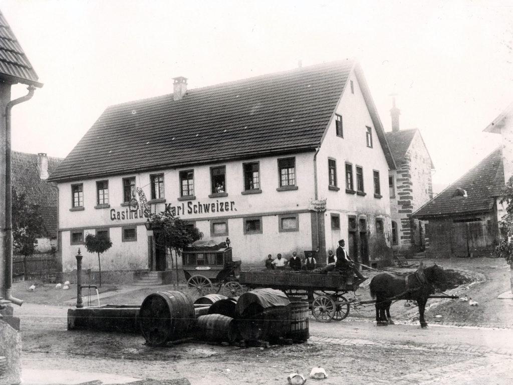 Hauptstraße 58 – Gasthaus Hirsch um 1900