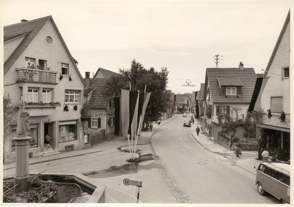 Hauptstraße um 1958