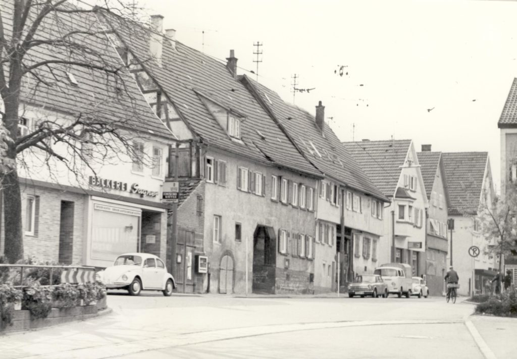 Kirchstraße 28 Bäckerei Sagner um 1978