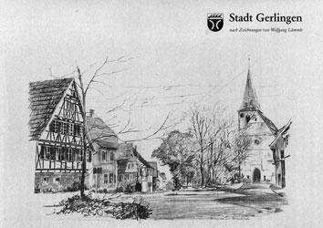Stadt Gerlingen nach Zeichnungen von Wolfgang Lämmle