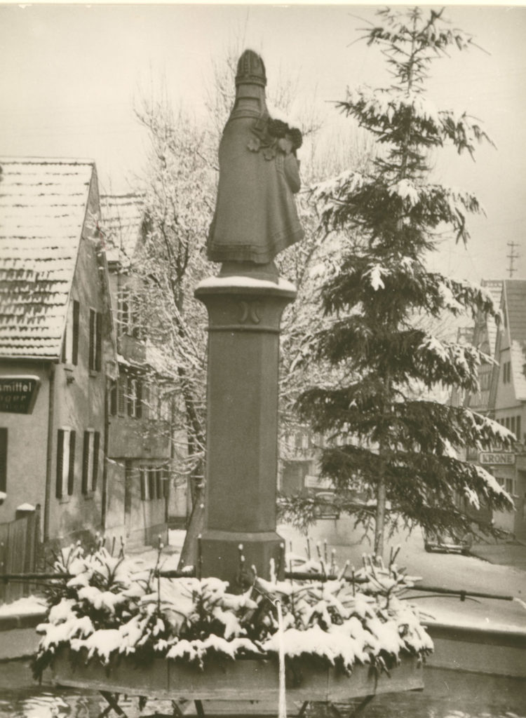 Urbanbrunnen im Winter 1962