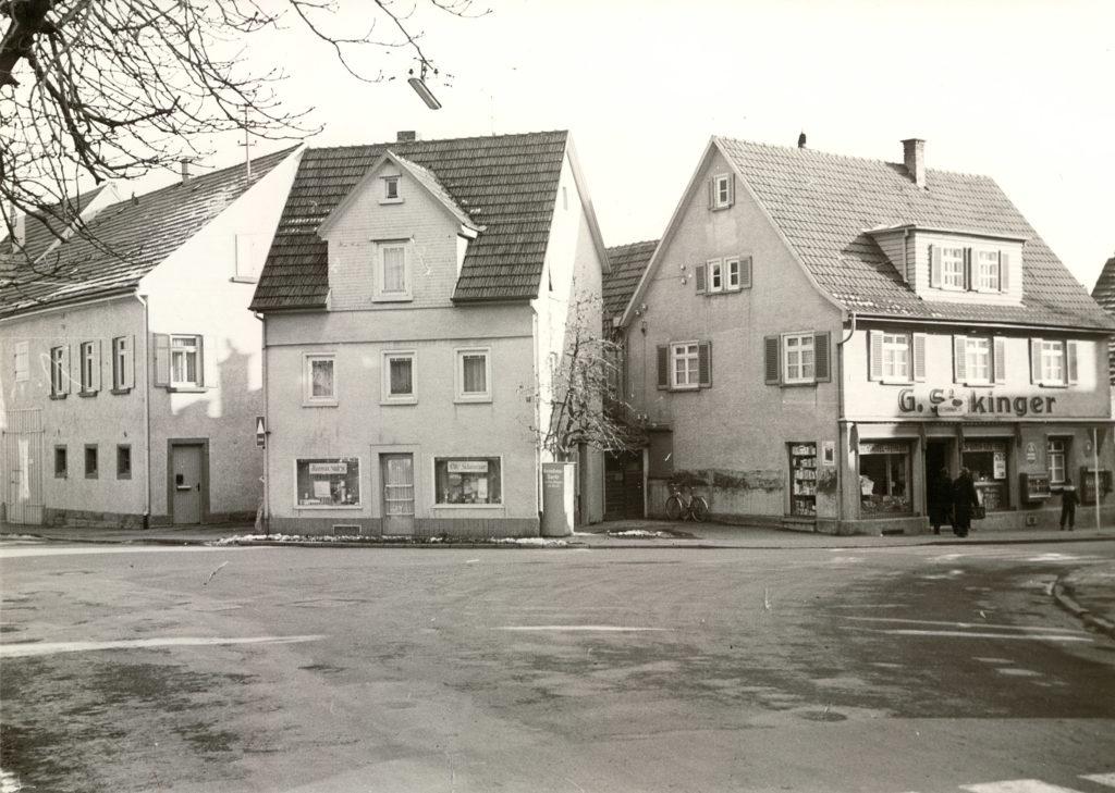 Hauptstr. 1 Ecke Ditzingerstraße G. Sickinger um 1962