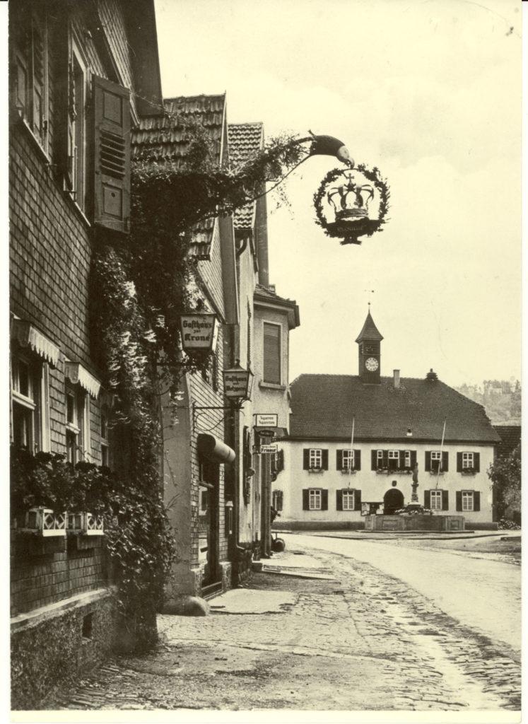 Hauptstr. 21 Gasthaus Krone um 1942