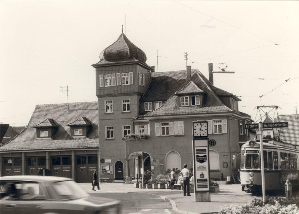 Schulstr. 19 Feuerwehr-Straßenbahn-Endhaltestelle 1970