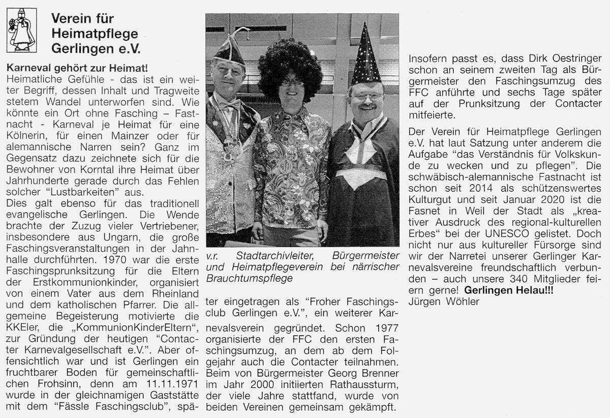 Gerlinger Anzeiger vom 10.02.2020
