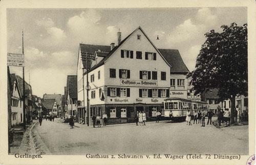 "Neuer ""Schwanen"", 1928-2000, Ecke Haupt-Kirchstr."