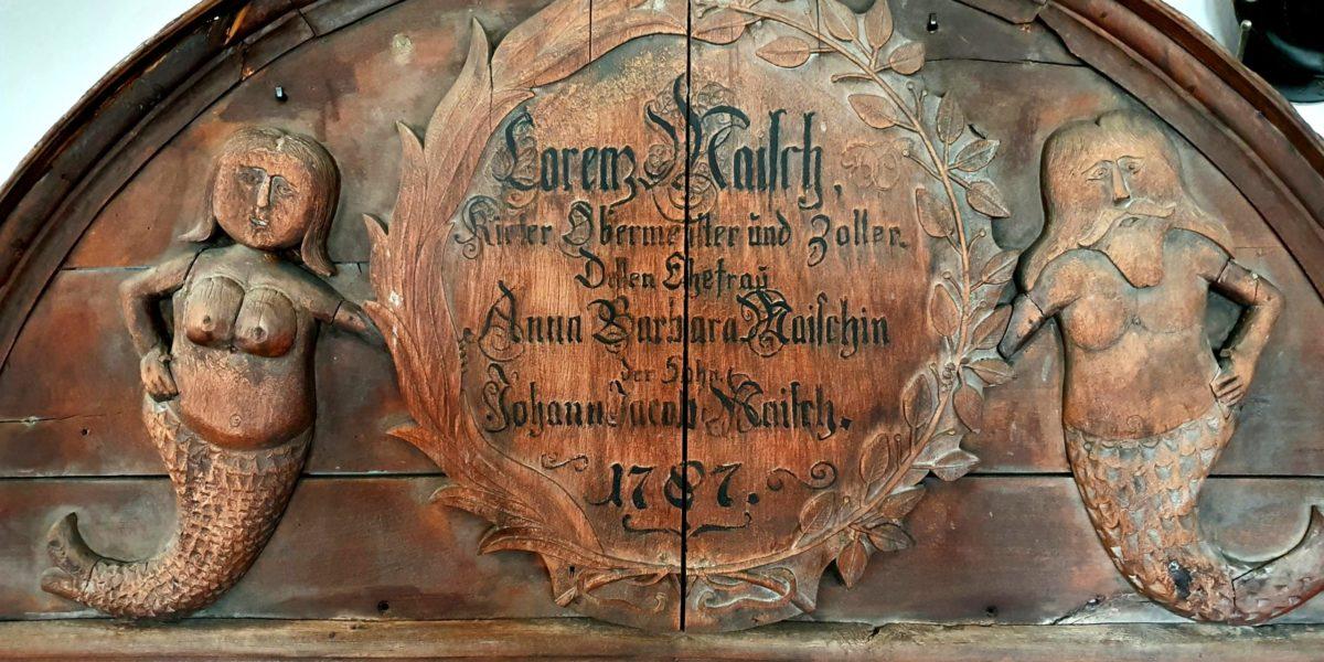 Türschild von Küfermeister Maisch 1787